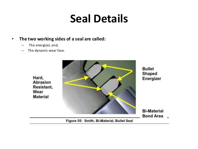 Seal Details • The two working sides of a seal are called: – The energizer, and, – The dynamic wear face.