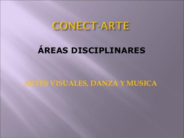 ÁREAS DISCIPLINARES  ARTES VISUALES, DANZA Y MUSICA