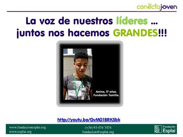 Conecta joven Mejor Iniciativa Global en Telecentros #spark13 Slide 2