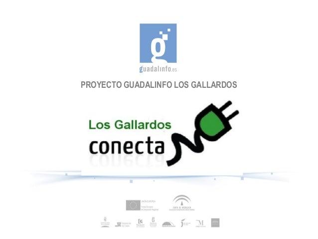 PROYECTO GUADALINFO LOS GALLARDOS