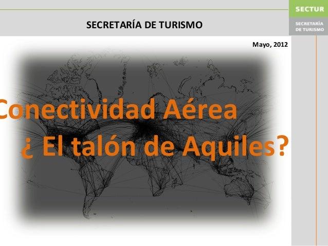 Conectividad Aérea ¿ El talón de Aquiles? Mayo, 2012 SECRETARÍA DE TURISMO