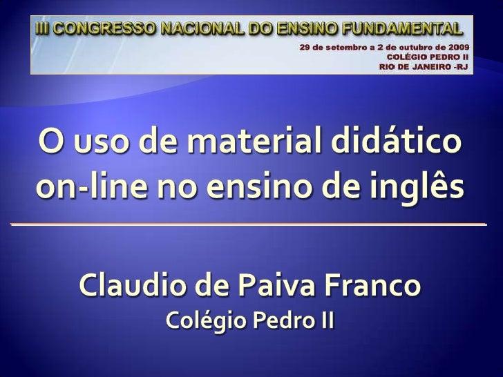 Objetivos                                 Contexto do relato                             Fundamentação teórica            ...