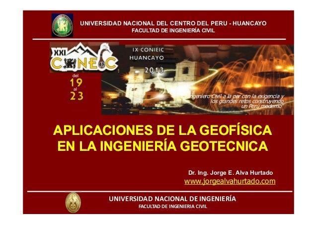 """""""El Ingeniero Civil a la par con la exigencia y los grandes retos construyendo un Perú moderno"""" UNIVERSIDADNACIONALDEIN..."""