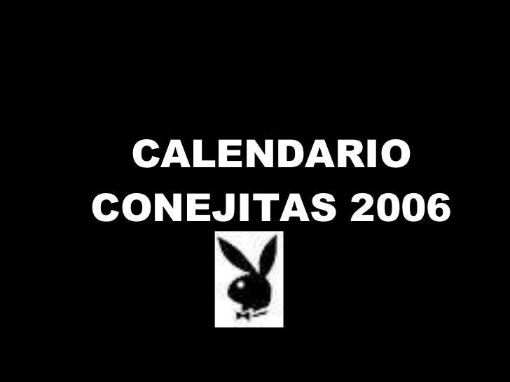 CALENDARIO CONEJITAS 2006