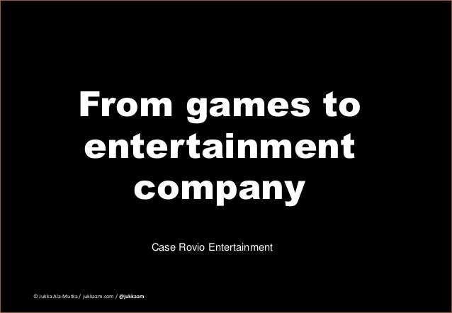 Business Model Canvas of Entertainment Company - Case Rovio Entertainment Slide 2