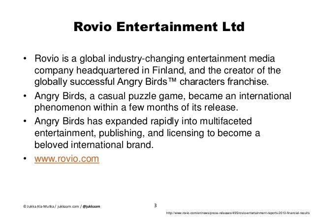 Business Model Canvas of Entertainment Company - Case Rovio Entertainment Slide 3