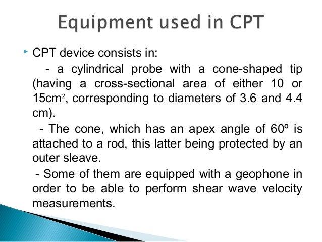 cone penetrometer test procedure