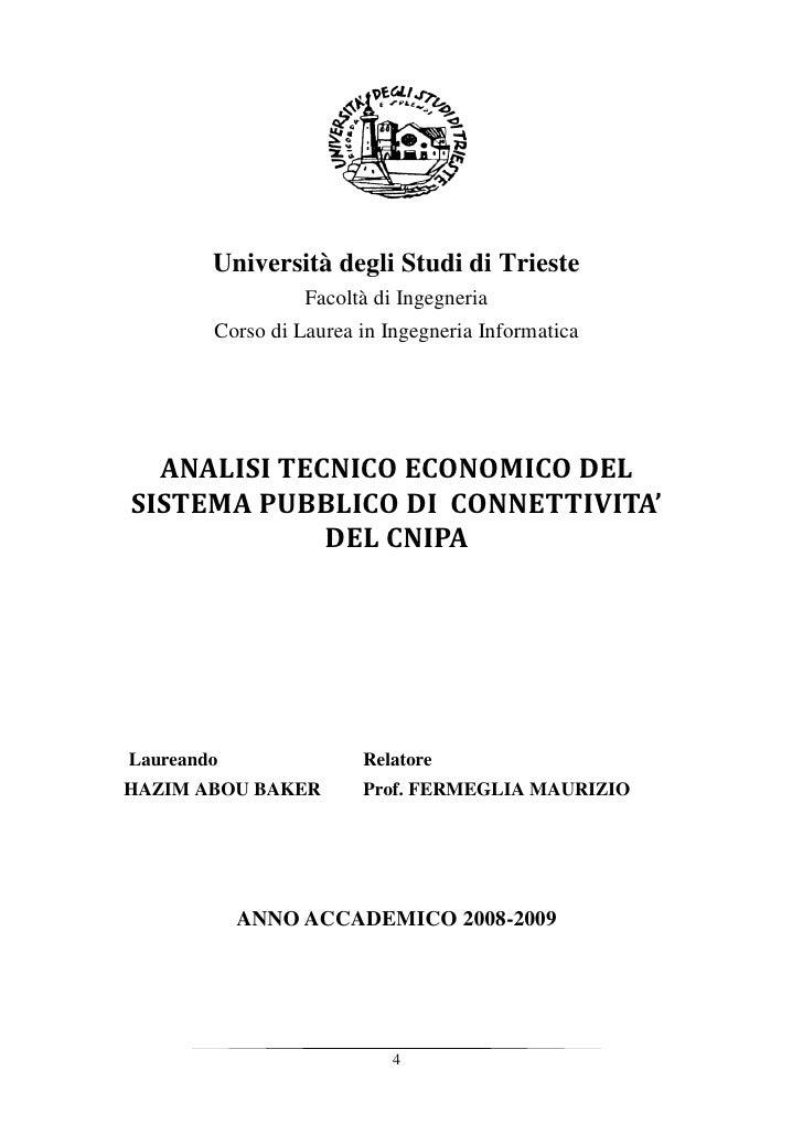 Università degli Studi di Trieste                   Facoltà di Ingegneria         Corso di Laurea in Ingegneria Informatic...