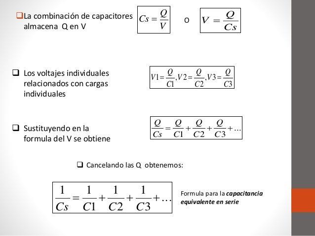 Conexi 243 N De Capacitores En Serie Paralelo Y Mixto