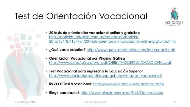 Cursos de orientacion vocacional pdf
