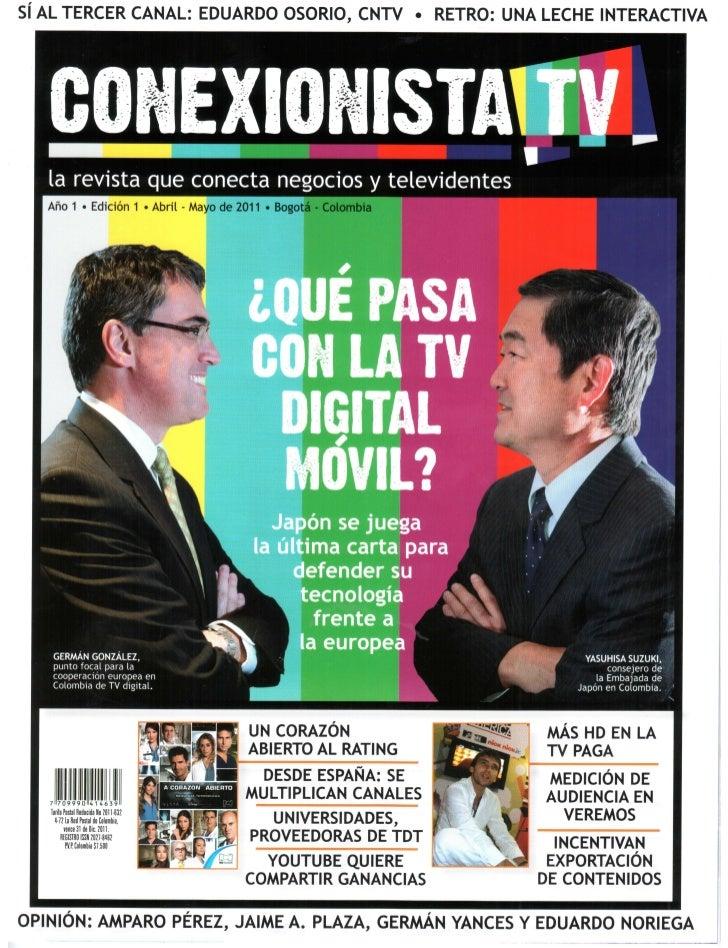 Canal ZOOM en la revista Conexionista TV