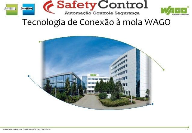 Tecnologia de Conexão à mola WAGO© WAGO Kontakttechnik GmbH & Co, KG, Sept. 2005-BK/MH    1