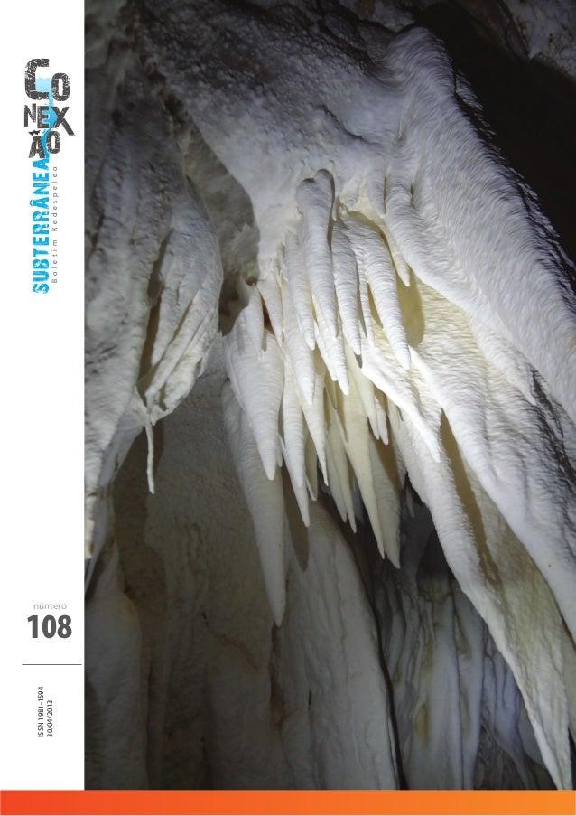 subterraneaBoletimRedespeleo 108 ISSN1981-1594 30/04/2013 número