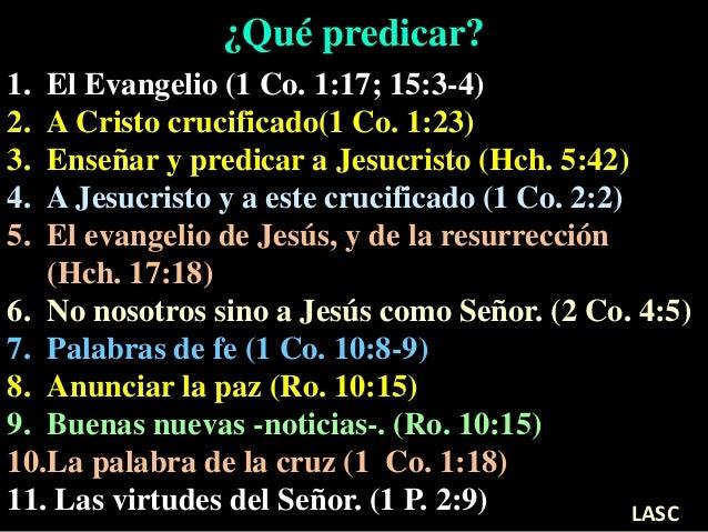 Conf Cómo Predicar Públicamente El Evangelio Y Qué Predicar