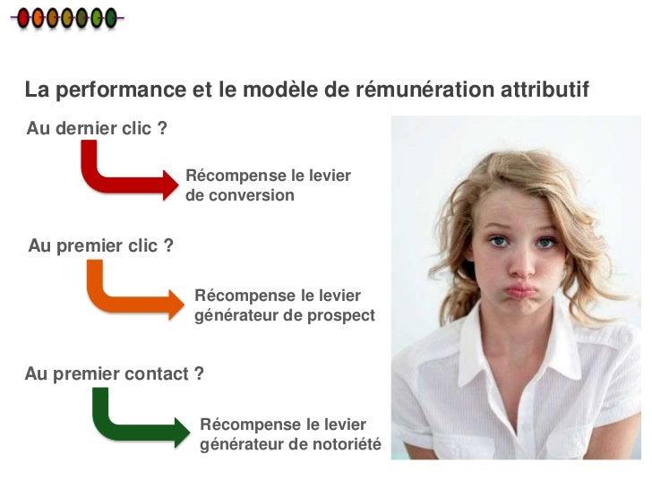 La performance et le modèle de rémunération attributifAu dernier clic ?                    Récompense le levier           ...