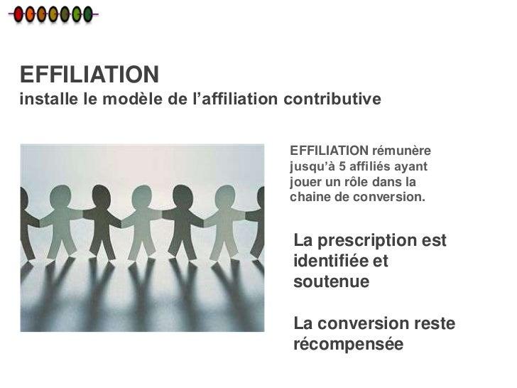 EFFILIATIONinstalle le modèle de l'affiliation contributive                                   EFFILIATION rémunère        ...