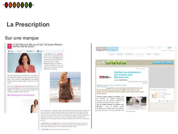 La PrescriptionSur une marque