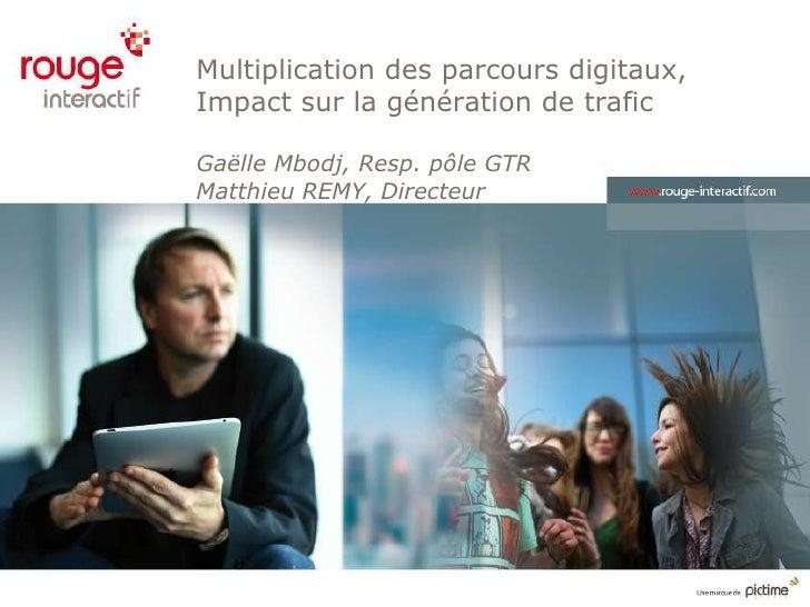 Multiplication des parcours digitaux,Impact sur la génération de traficGaëlle Mbodj, Resp. pôle GTRMatthieu REMY, Directeur