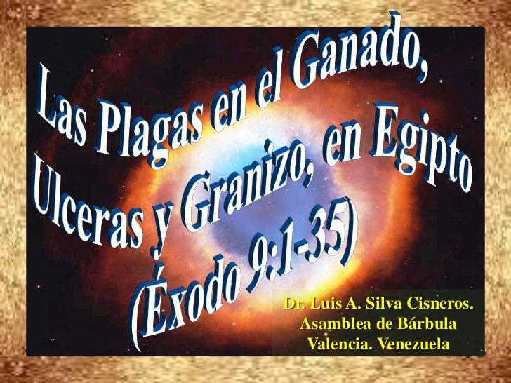 Las Plagas en el Ganado,      <br />Ulceras y Granizo, en Egipto<br />(Éxodo 9:1-35)<br />Dr. Luis A. Silva Cisneros.     ...