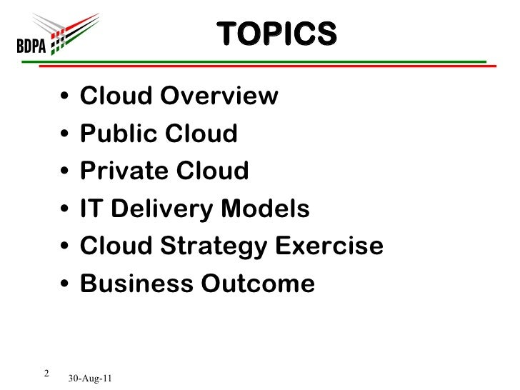 The Value of 'Cloud' in the Business Technology Ecosystem
