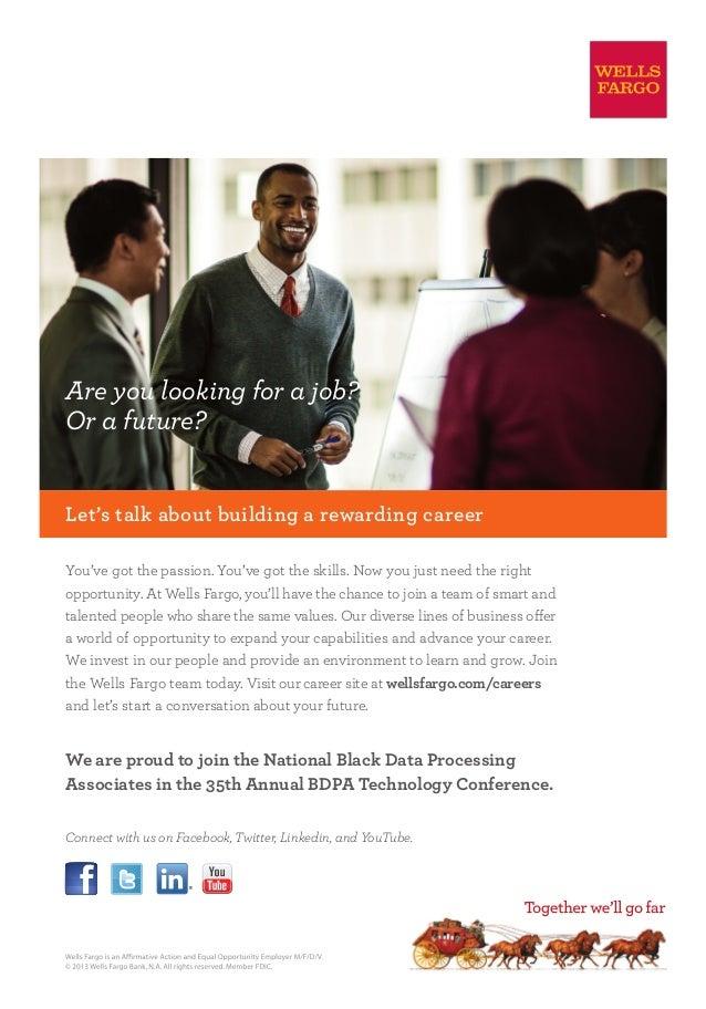 BDPA Conference Ad: Wells Fargo (2013)