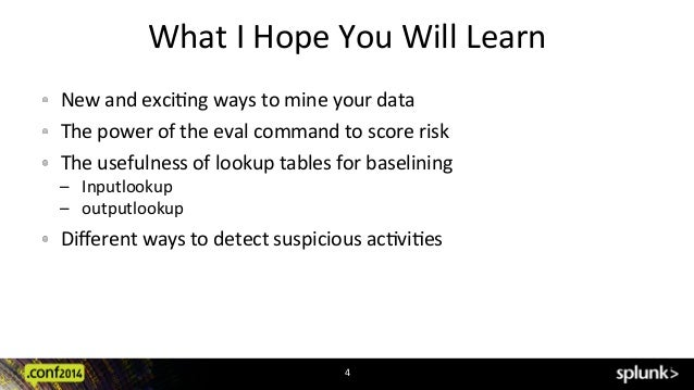 Splunk conf2014 - Detecting Fraud and Suspicious Events Using Risk Sc…