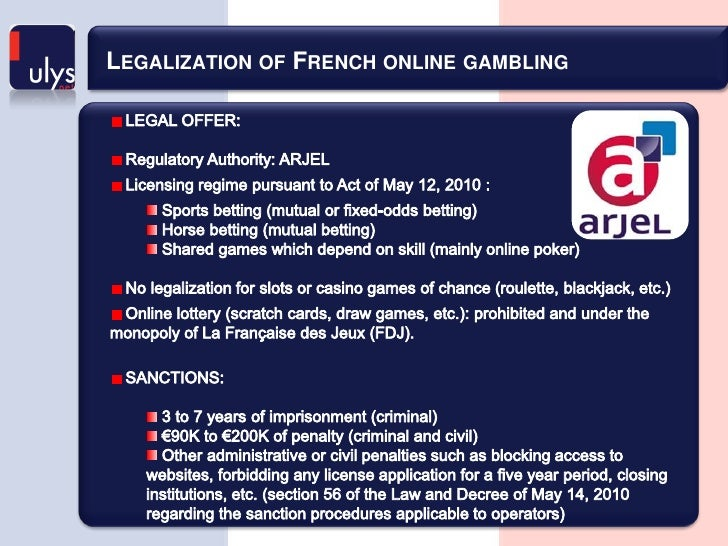 French online gambling licenses best casino free play las vegas