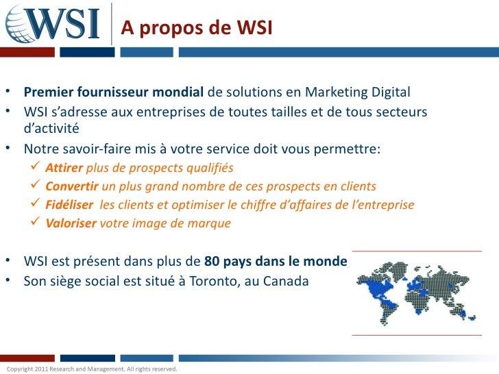 Les médias sociaux par les consultants WSI Slide 2