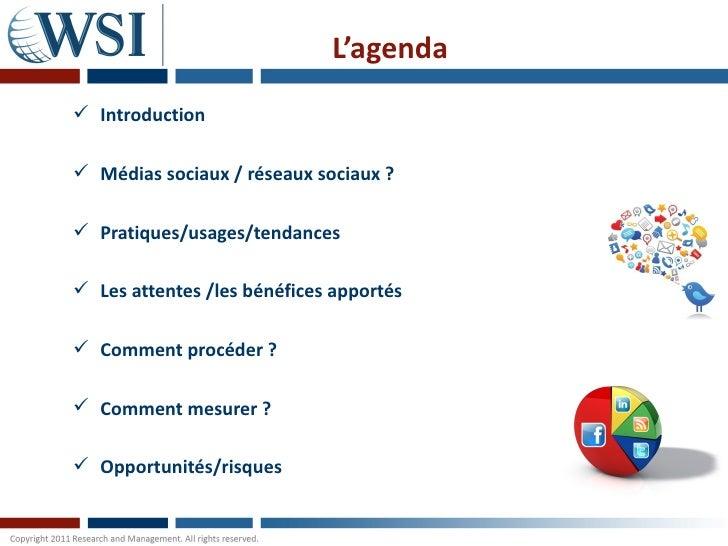 Les médias sociaux par les consultants WSI Slide 3