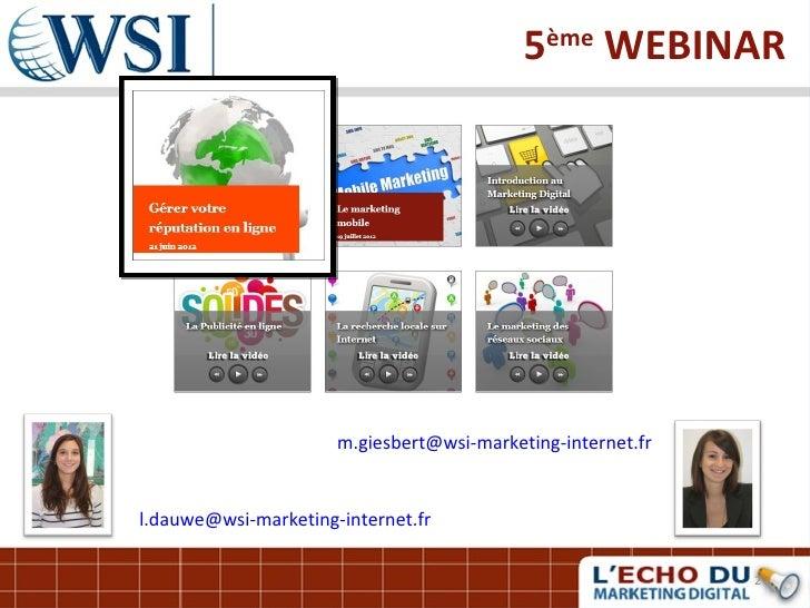 Gerer votre reputation en ligne par les consultants WSI Slide 2
