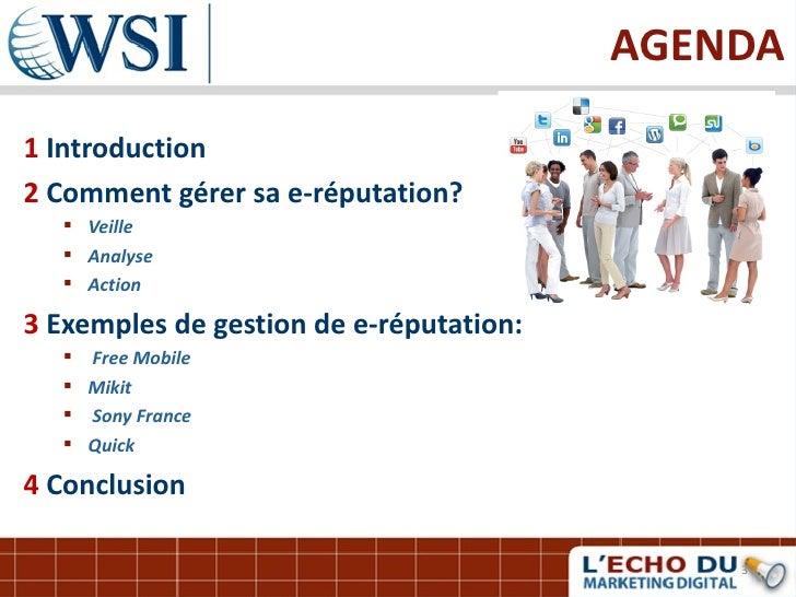 Gerer votre reputation en ligne par les consultants WSI Slide 3