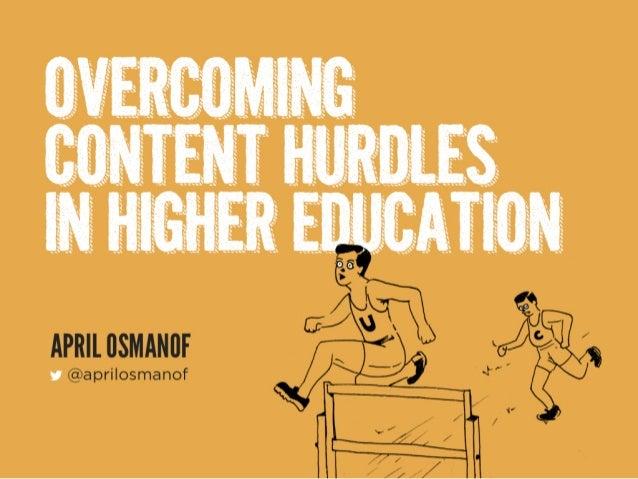 Overcoming Content Hurdles in HE