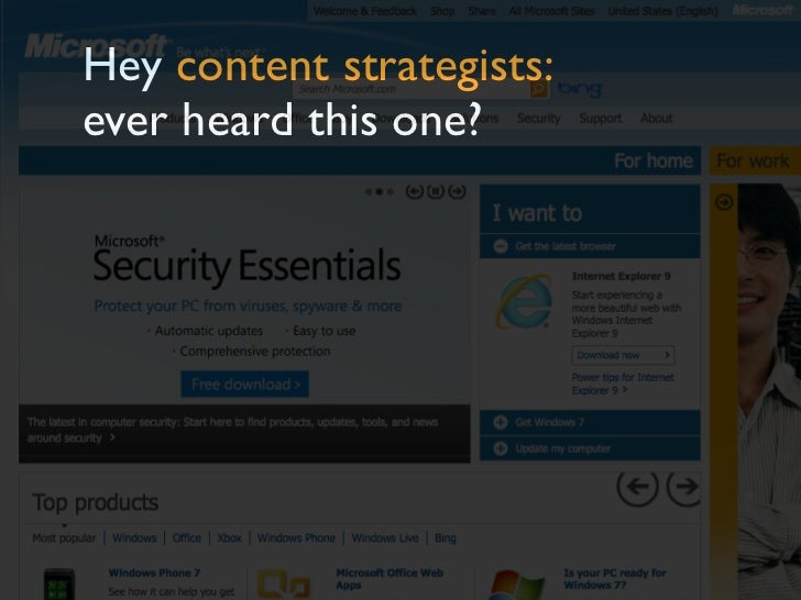 Hey content strategists:ever heard this one?
