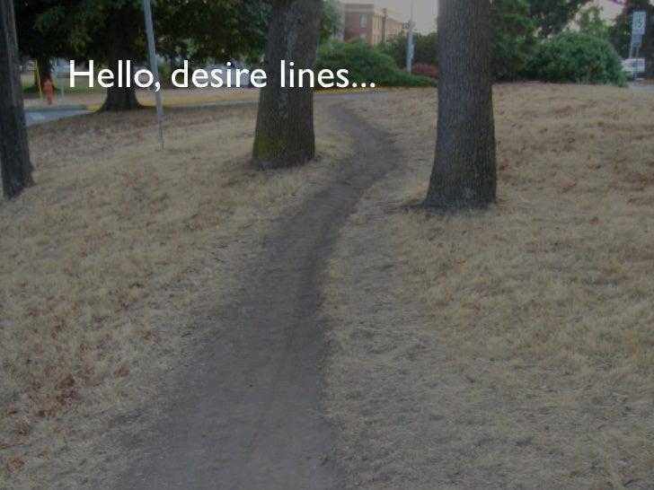 Hello, desire lines...