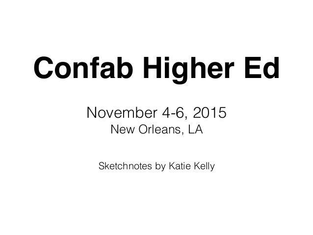 Confab Higher Ed November 4-6, 2015 New Orleans, LA Sketchnotes by Katie Kelly