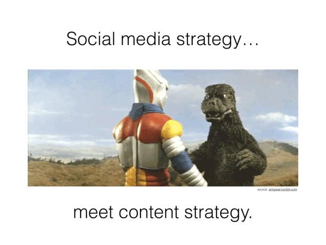 Social media strategy… meet content strategy. source: arlopear.tumblr.com
