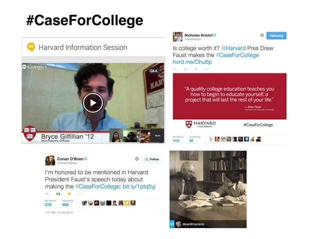 #CaseForCollege