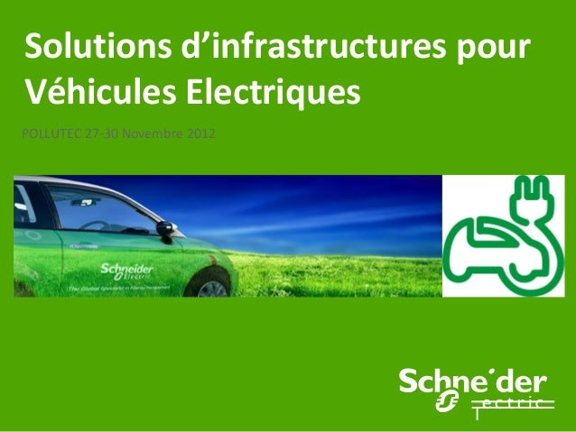 Solutions d'infrastructures pourVéhicules ElectriquesPOLLUTEC 27-30 Novembre 2012