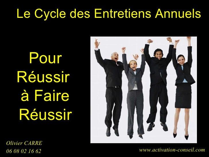 Le Cycle des Entretiens Annuels <ul><li>Olivier CARRE  </li></ul><ul><li>06 08 02 16 62 </li></ul>www.activation-conseil.c...