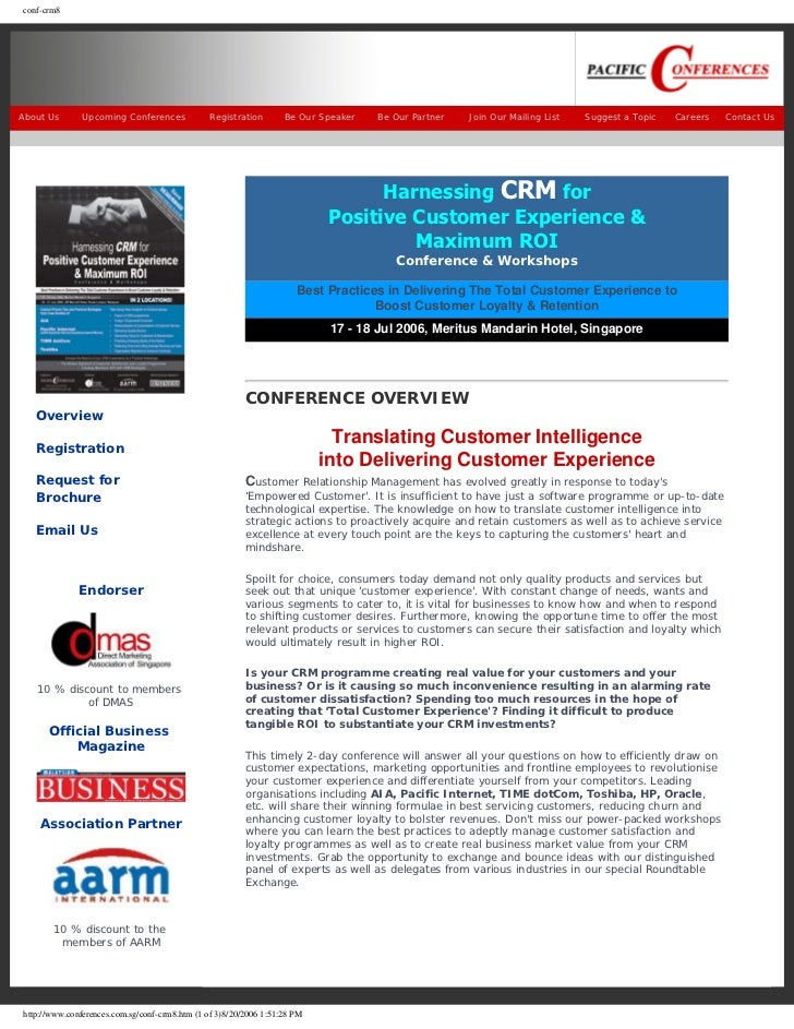 conf-crm8About Us       Upcoming Conferences             Registration       Be Our Speaker   Be Our Partner   Join Our Mai...
