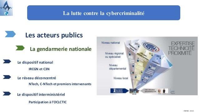 La lutte contre la cybercriminalité Les acteurs publics Le dispositif national La gendarmerie nationale Le réseau déconcen...