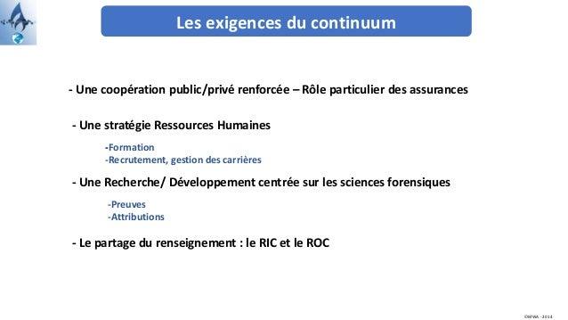Les exigences du continuum - Une stratégie Ressources Humaines - Une Recherche/ Développement centrée sur les sciences for...