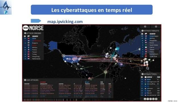 Les cyberattaques en temps réel map.ipvicking.com ©MWA - 2014