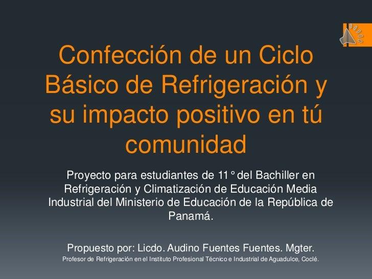 Proyecto Ciclo B Sico De Refrigeraci N