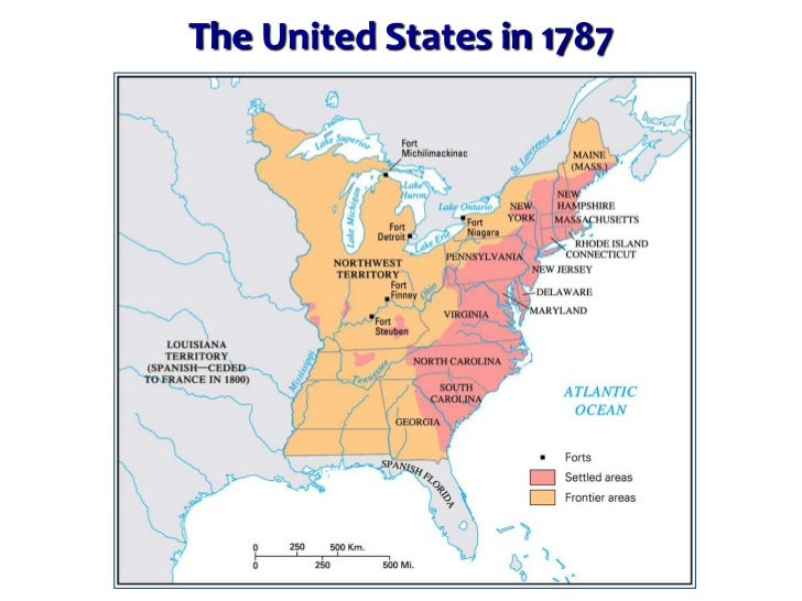 The New Nation Confederation And Washington - Map of us in 1787