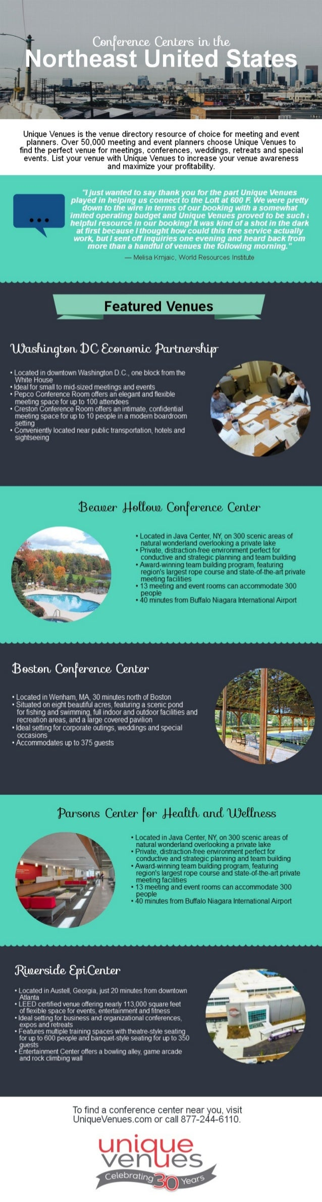 Conference Centers in the Northeast United States
