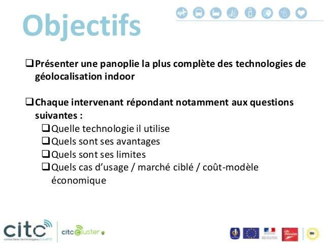 Programme  Géolocalisation indoor pour le marketing et la sécurité  Ayudo (Bluetooth) - Arnaud Akar  Aerohive (WiFi) - ...