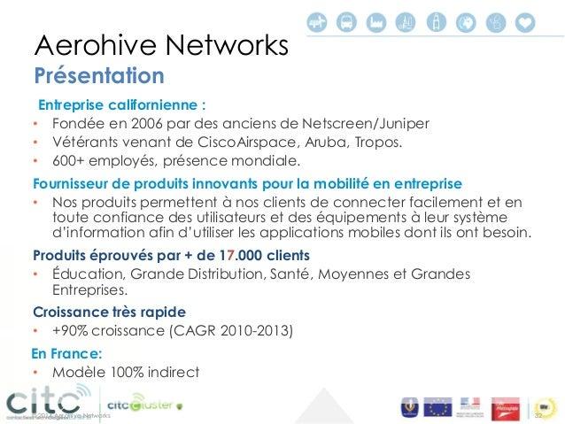 © 2014 Aerohive Networks  Les iBeacons s'annoncent  •Avec des informations d'identification (ex: #magasin et département) ...