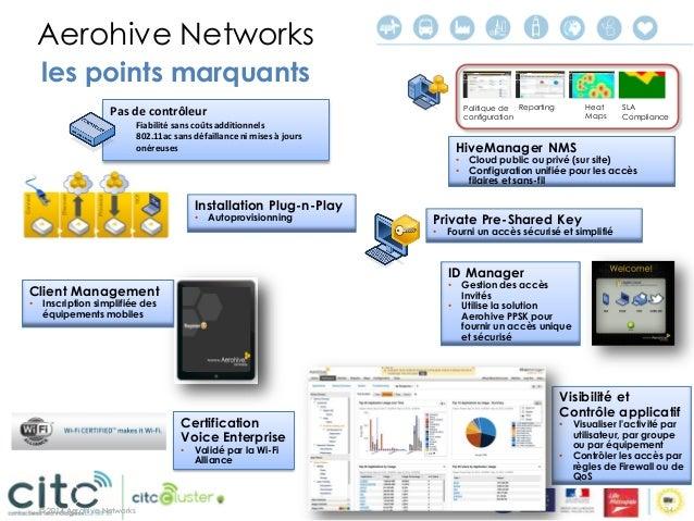 © 2014 Aerohive Networks  Sécurité & Contrôle  Accès personnalisé  Visibilité basée sur le contexte utilisateur et politiq...