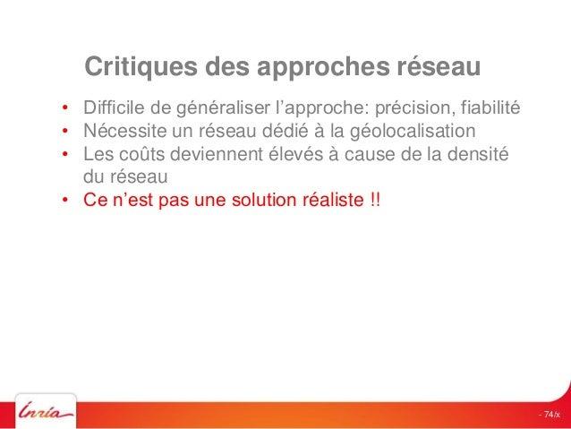 Géolocalisation indoor Cas d'usage  Conférence Géolocalisation Indoor 09-11-2014  94  •Marketing  •Sécurité  •Industrie  •...